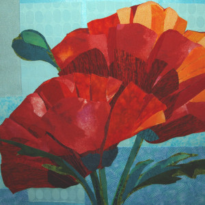 Poppies - Fabric Art
