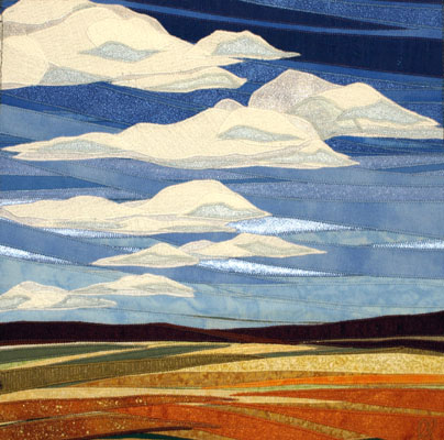 Lubbesmeyer Autumn Sky - Fiber Art