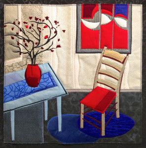 Lubbesmeyer, Red Vase and Chair, art