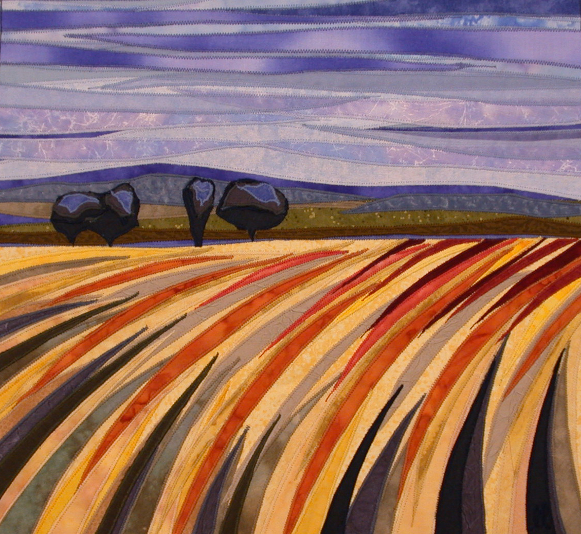 Open fields with trees and blue skies by Lisa & Lori Lubbesmeyer