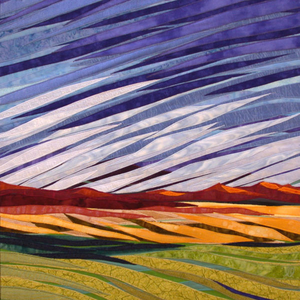 Turning Sky - Fabric Art by Lisa & Lori Lubbesmeyer