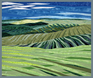 Lubbesmeyer, Blue Hills, slow art fiber painting