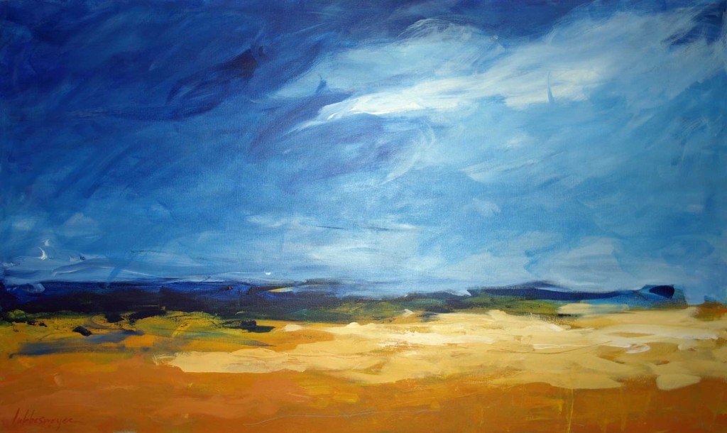 Blue and Yellow Landscape