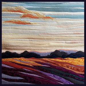 Lubbesmeyer, Evening Light, Fiber art