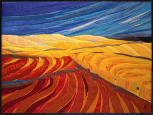 Lubbesmeyer Fields and Hills fiber painting'