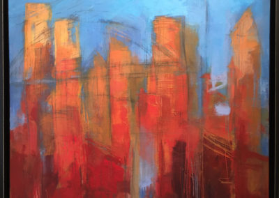 Red/Orange Cityscape