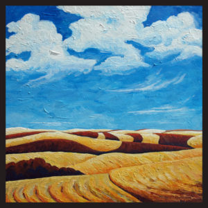 Lubbesmeyer, Patterned Hills, Acrylic painting