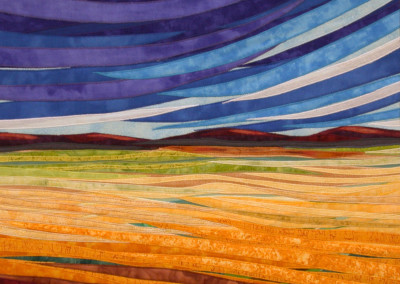 Lubbesmeyer, Sweeping Sky - Fabric Art by Lisa & Lori Lubbesmeyer