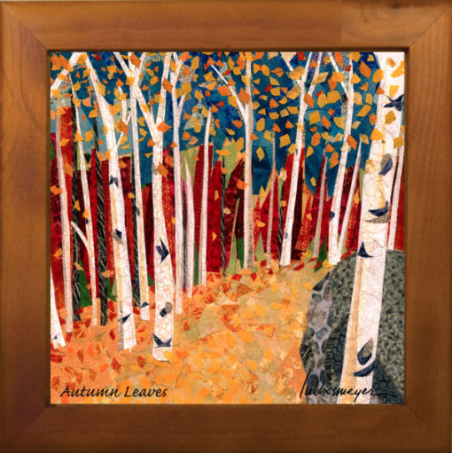 Autumn leaves ceramic tile by Lubbesmeyer