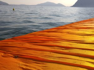 The Floating Piers, Christo and Jeanne-Claude installation on Lake Iseo in Northern Italy