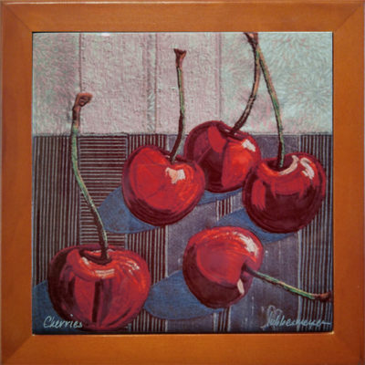 Lubbesmeyer Cherries printed ceramic tile