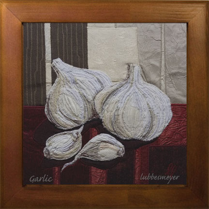 Lubbesmeyer Garlic framed ceramic tile