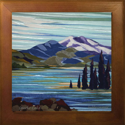 Sparks Lake Oregon ceramic tile print